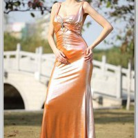 Column Sheath Square Floor-Length Satin Evening Dress(ED2887) [ED2887] - $124.50 :