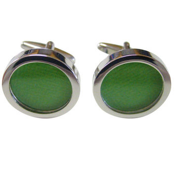 Textured Light Green Colored Classic Cufflinks