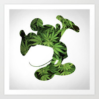 Mickey Weed Art Print by Thomas Jarry