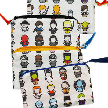 NEW Movies Makeup Bag | Star Wars | Star Trek | Pulp Fiction | The Fifth Element | Men in Black | Ghostbusters- Harry Potter-Wizard of Oz