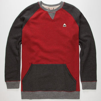 Burton Ryland Mens Sweatshirt Black/Red  In Sizes