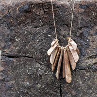 LACE WOOD NECKLACE called Wings of an Eagle