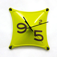 Working 9 to 5 Clock in Lime
