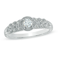 Cherished Promise Collection™ 1/5 CT. T.W. Diamond Vintage-Style Promise Ring in 10K White Gold