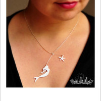 Hand cut Silhouette Necklace with Sterling by MotherWasRight