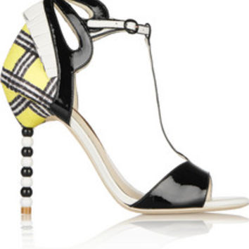 Sophia Webster Dulcie leather and woven sandals – 50% at THE OUTNET.COM