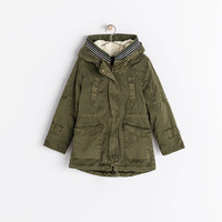 Parka with removable fleece