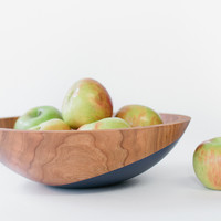 Fruit & Salad Bowl - Space Blue and Clear by Wind & Willow | Madesmith