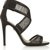 Diane von Furstenberg - Jules leather and mesh sandals