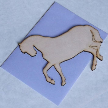 Wooden Horse Card, Gift Idea, Baby Shower Idea, Birch Wood, Lasercut