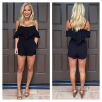 Cassidy Fringe Detailed Romper - BLACK