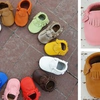 Genuine Leather Baby Moccasins