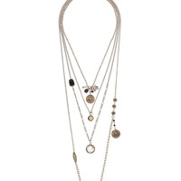 Bead and medallion necklace set