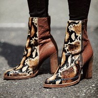 Free People Womens Baroness Heel Ankle Boot -