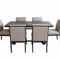 Verna 7 Piece Dining Set, Contemporary Dining Set, Dining Room Furniture: Nyfurnitureoutlets.com