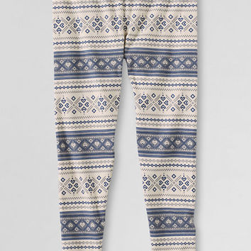 Girls' Pattern Ankle Length Leggings from Lands' End