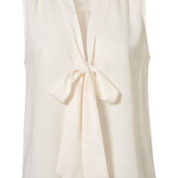 Sleeveless Lace Insert Blouse - Blouses & Shirts - Tops  - Clothing - Topshop