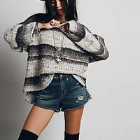 Free People Womens Wool Slouchy Stripe Pullover -