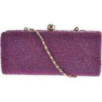 Women's J. Furmani 6059 Hardcase Beaded Evening Bag Purple