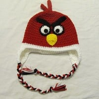 Angry Birds Ear Flap Hat by izzyluv on Etsy