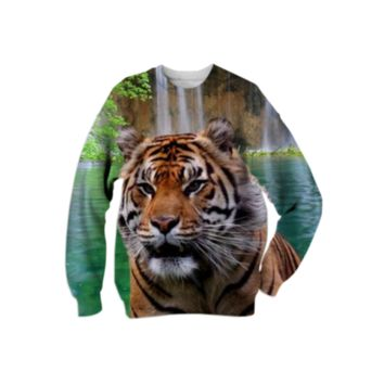 Sumatran Tiger Sweatshirt created by ErikaKaisersot | Print All Over Me