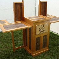 Traveling Show Booth Jewelry Display Cabinet by LazarusHandplaneCo