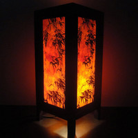 Asian Oriental Dawning Sunset Japanese Art Bedside by marwincraft