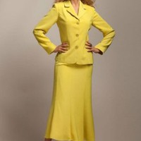 Roamans Plus Size Trumpet Skirt Suit