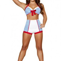 3 PC Playful Pinup Sailor Costume @ Amiclubwear costume Online Store,sexy costume,women's costume,christmas costumes,adult christmas costumes,santa claus costumes,fancy dress costumes,halloween costumes,halloween costume ideas,pirate costume,dance costum