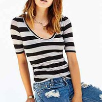 BDG Striped Scoop-Neck Tee - Urban Outfitters