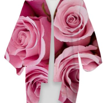 Pink Roses Kimono created by ErikaKaisersot | Print All Over Me
