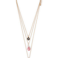 With Love From CA Stone Triple Layer Necklace - Womens Jewelry - Gold - One