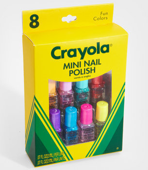 FredFlare.com - Crayola Mini Nail Polish Set - Set of 8 Glitter Crayon Nail Polish Colors