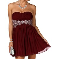 Pre-Order: Delilah- Burgundy Homecoming Dress