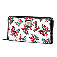 Minnie Mouse Bow Wallet by Dooney & Bourke - White