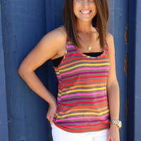 Multi Striped Racerback {Tank}
