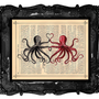 Vintage Octopus Lovers by BlackBaroque on Etsy