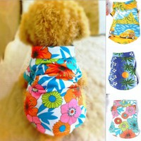 Urparcel Dog Cat T Shirt Pet Clothing Shirt Puppy Clothes Summer Apparel Beachwear Outfit White XS