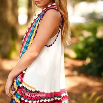 Vest Dressed Colorful Coverup