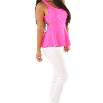 Show Time Top: Fuchsia