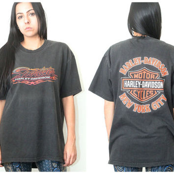Vintage Hipster // Harley Davidson Sportster T Shirt // Distressed Tee // XS Extra Small / Small / Medium / Large