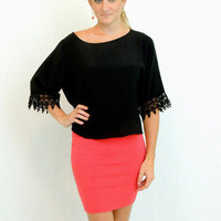 ruby red bandage body con knit Skirt - $30.00 | Daily Chic Bottoms | International Shipping