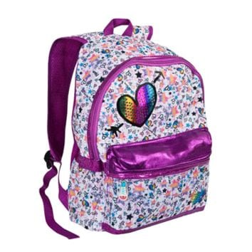 GIRLS' TWINKLE TOES: RAINBOW FOIL BACKPACK