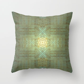 Wooden Pattern Throw Pillow by Barruf designs