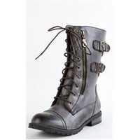 Diva Lounge Brown Military Mid Calf Boots and Womens Fashion Clothing  Shoes - Make Me Chic
