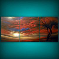 surreal large art landscape tree painting huge bird by mattsart