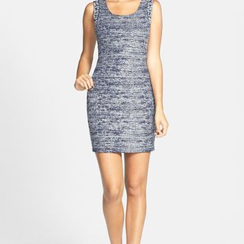Way-In Foil Knit Body-Con Dress (Juniors)