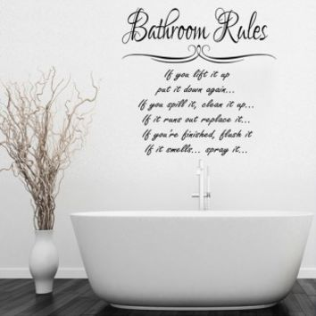 Bathroom rules - G Direct Wall Stickers
