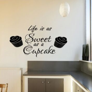 Life is as sweet as a cupcake - G Direct Wall Stickers