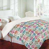 DENY Designs Home Accessories | Sharon Turner Light Sherbet Owls Duvet Cover